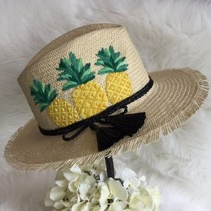 🆕Kate Spade Pineapple Trilby Hat NWT